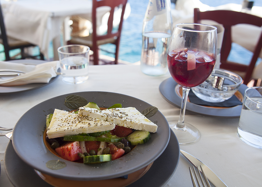 Ammoudi Bay greek salad