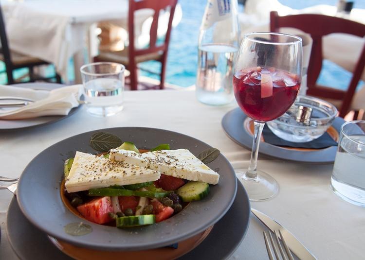 Ammoudi Bay greek salad