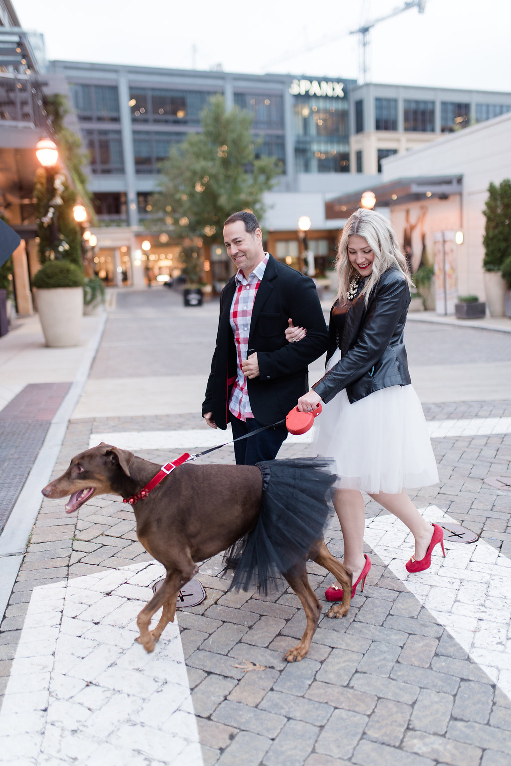 atlanta blogger, family portrait, party dress, dog tutu