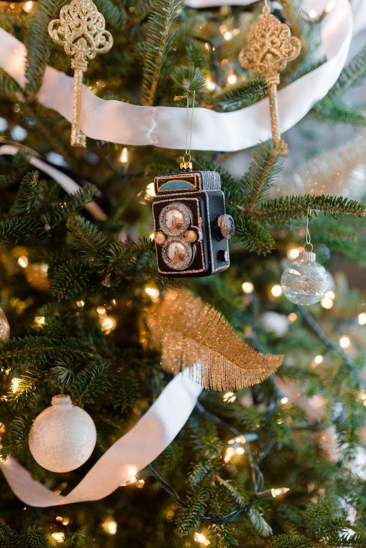 black , white, gold christmas tree