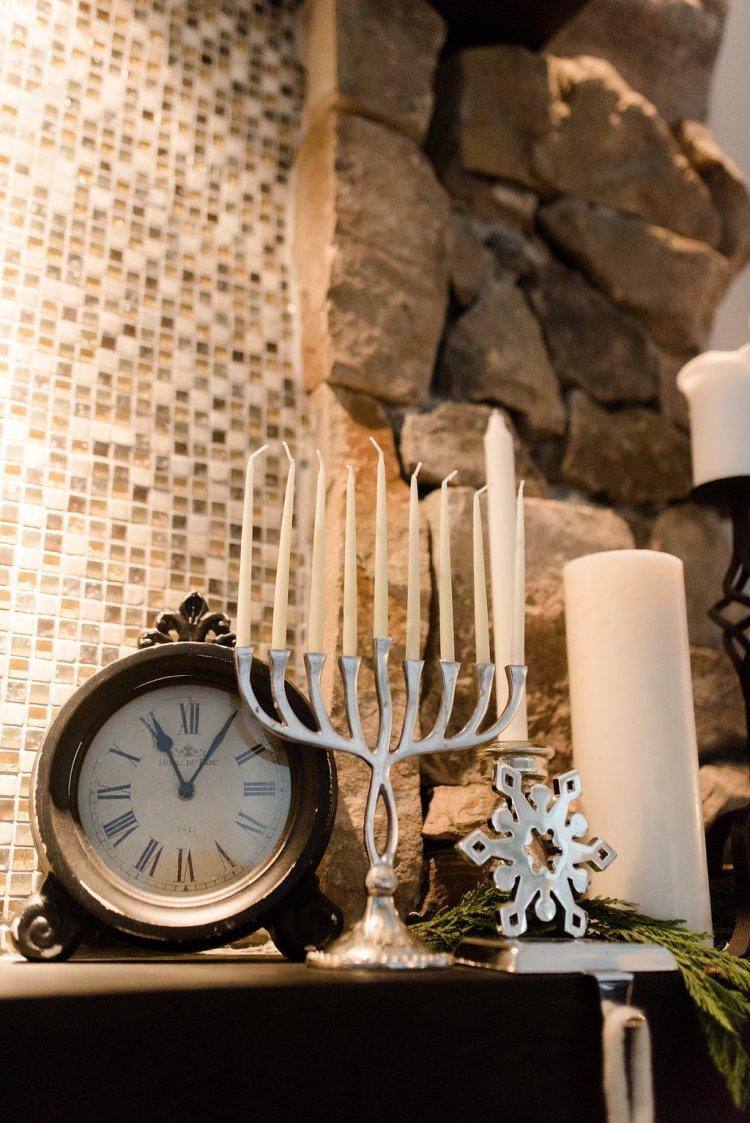 christmas and hanukkah, two holidays, black and white holiday home decor