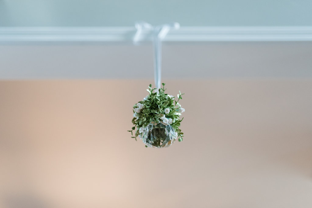 crystal mistletoe, christmas home decor