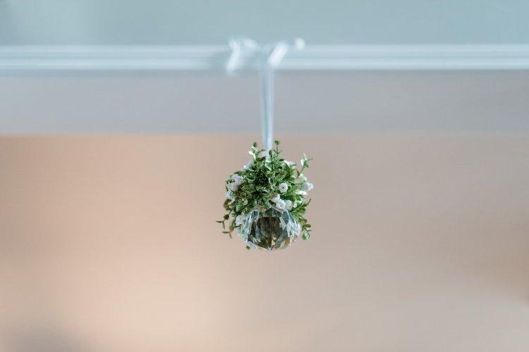crystal mistletoe, christmas home decor