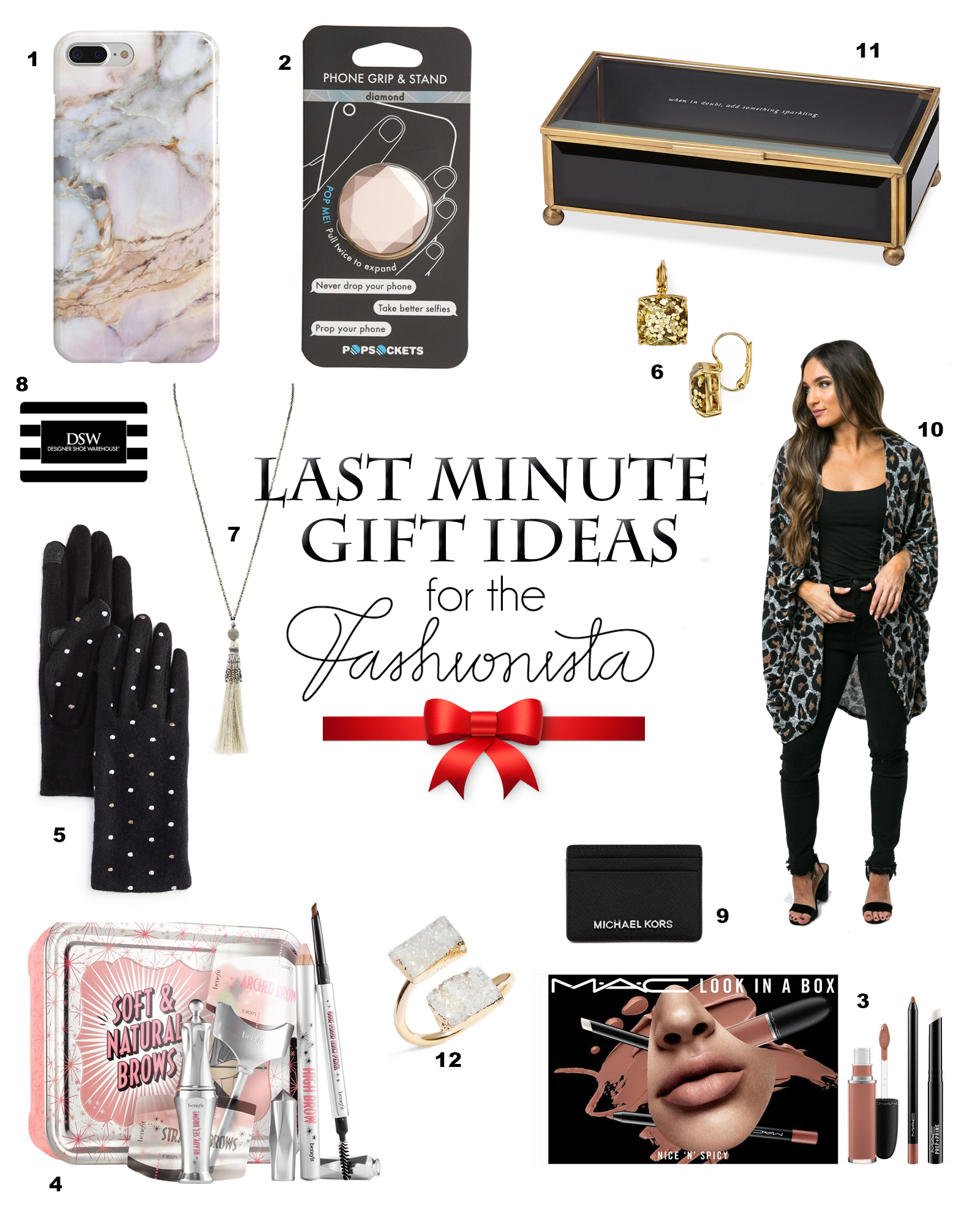 SERIOUSLY Last Minute Gift Ideas for the Fashionista in your life (all under $50)