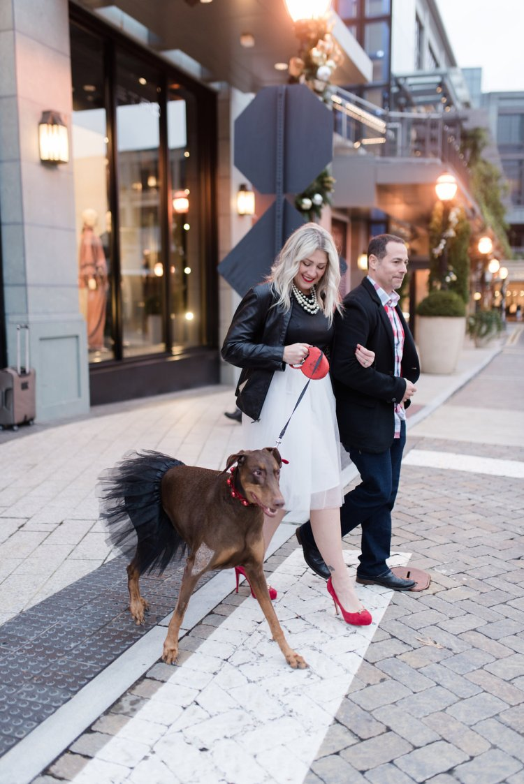 party dress, black and white, atlanta blogger