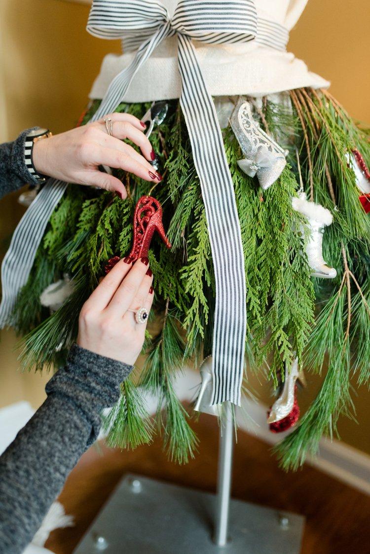 shoe ornaments, fashionista christmas tree