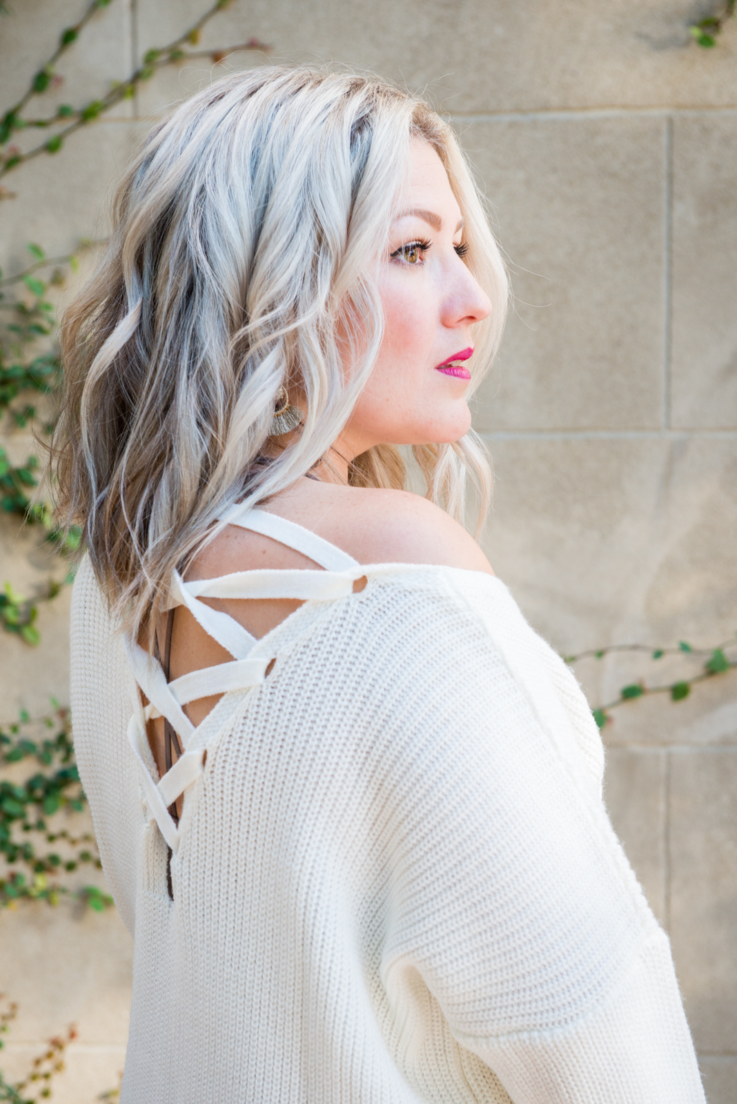 icy blonde lob lovefancypants