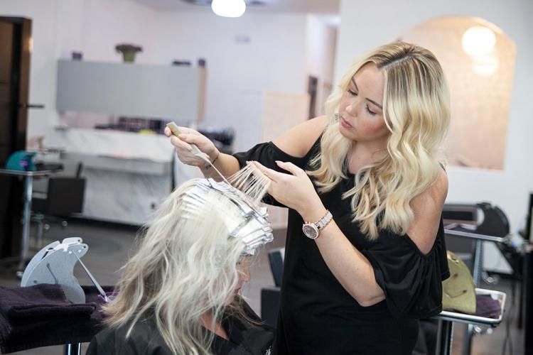 lumiere salon Ivy blonde lob lovefancypants